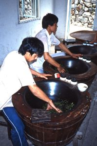 Workers_heat_tea_leaves_in_tourist_area_of_Chinese_plantation