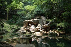 """""""Dreaming of the Tiger"""" -lähde Kiinassa, jonka veden sanotaan valmistavan erinomaista Lonjing-teetä."""