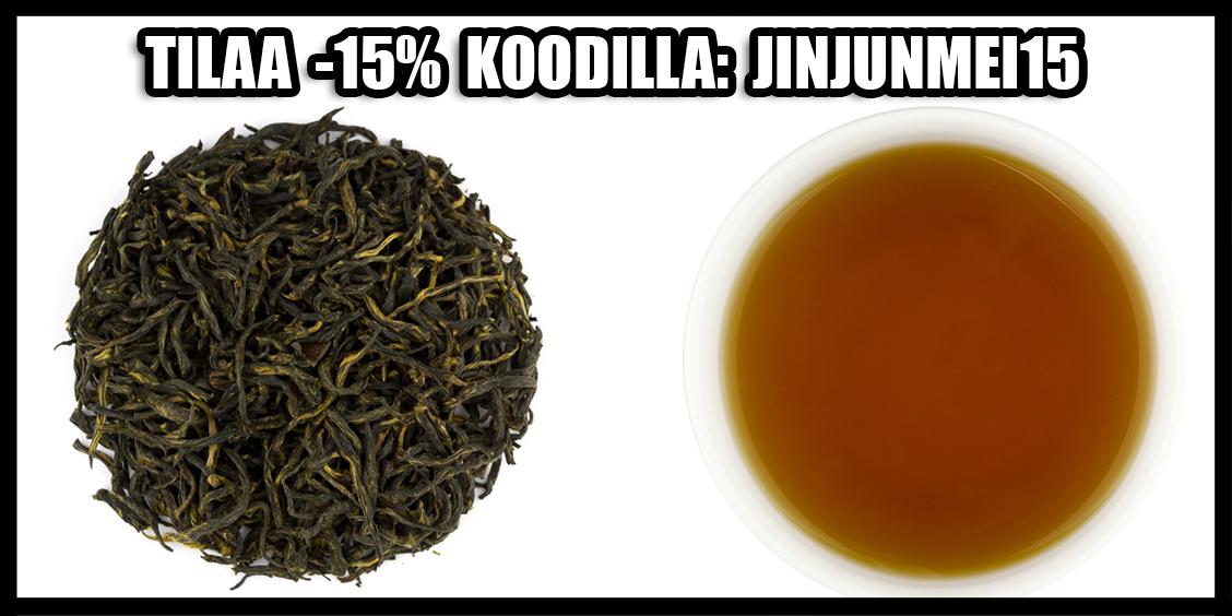 tilaa kiinan suosituin musta tee jin jun mei nyt -15% tarjoushintaan!